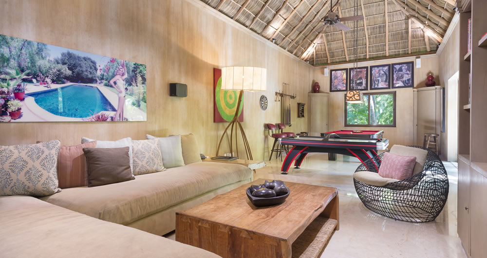 The Game Room at Casa Aramara Punta de Mita