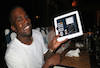 Kanye West with Ipad